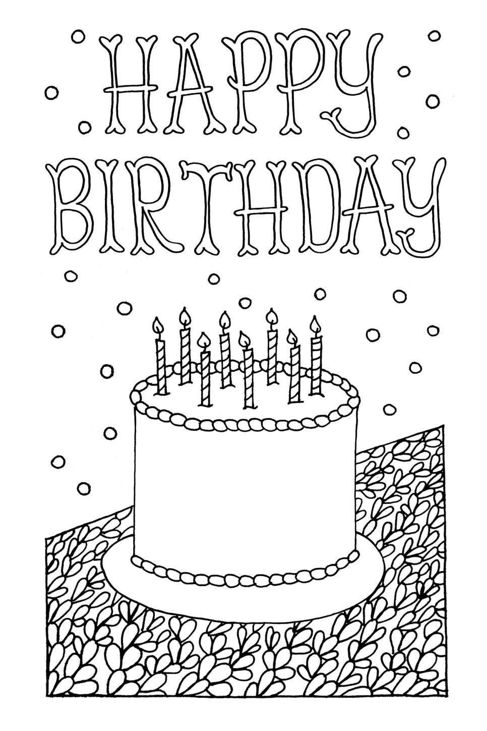 Free Downloadable Adult Coloring Greeting Cards | Diy Gifts | Happy - Free Printable Coloring Cards For Adults