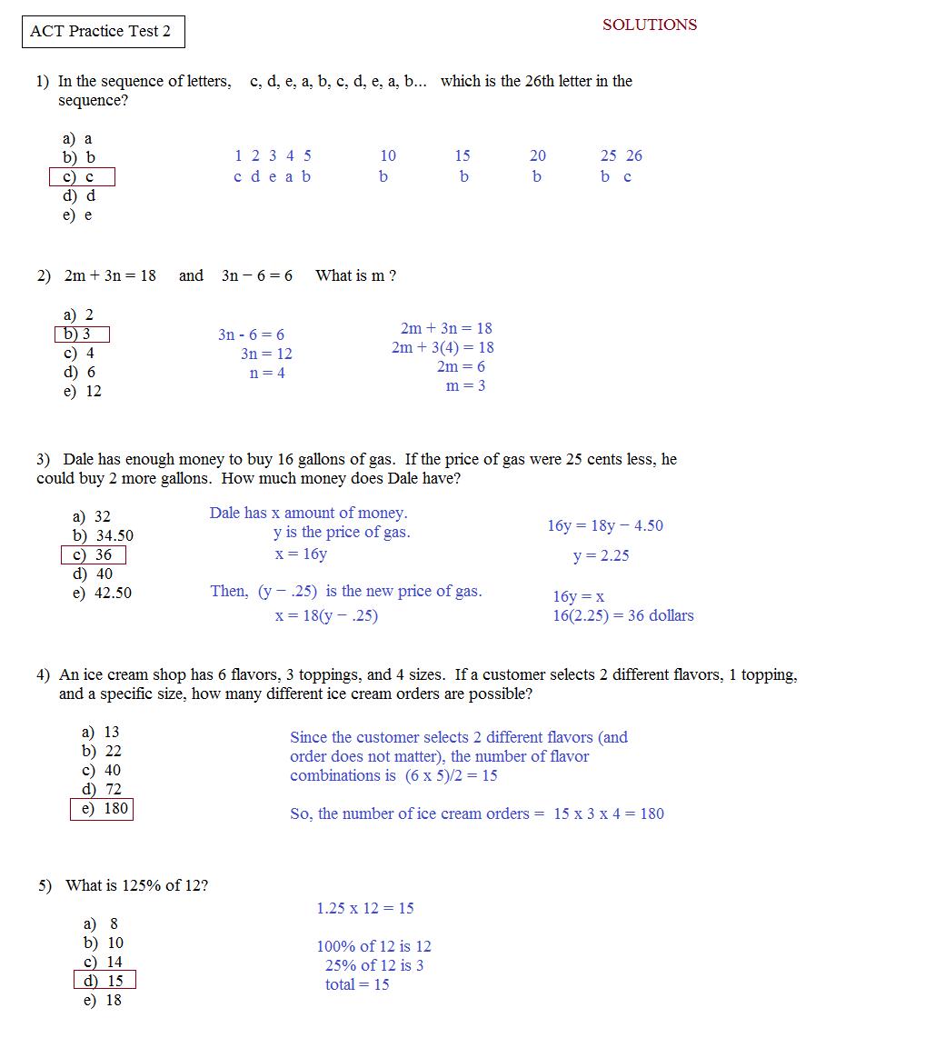 Free Downloadable Asvab Test - Free Printable Asvab Math Practice - Free Printable Asvab Math Practice Test
