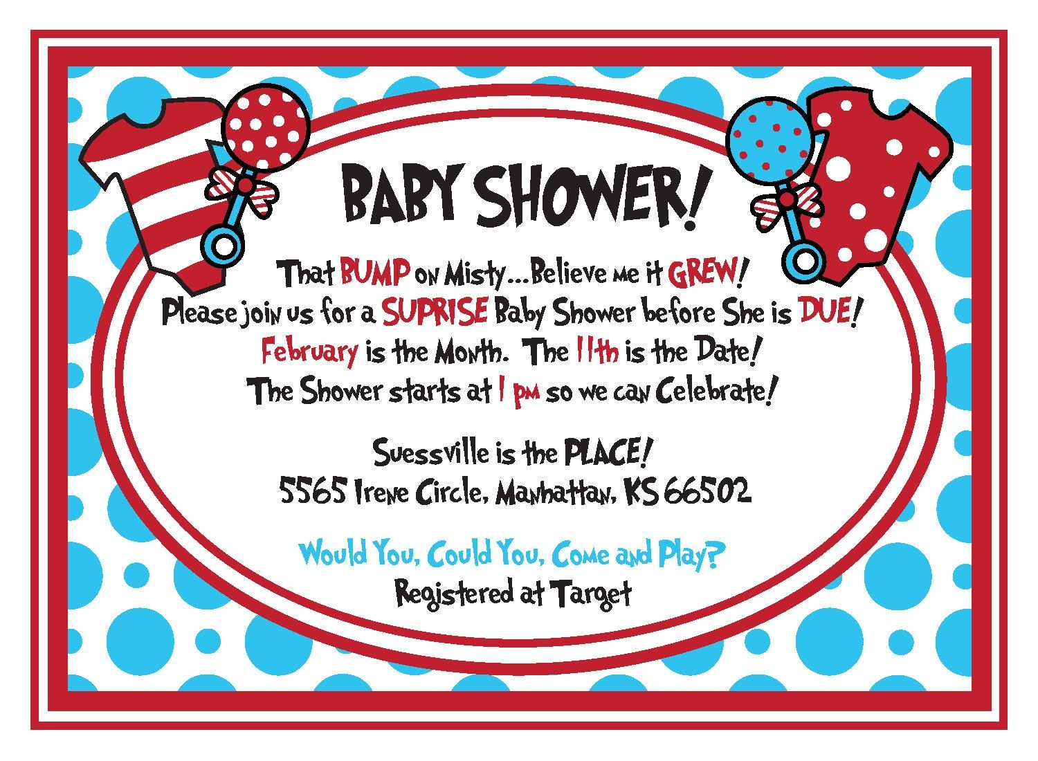 Free Dr.seuss Baby Shower Invitation - Psd | Free Printable - Dr Seuss Free Printable Templates