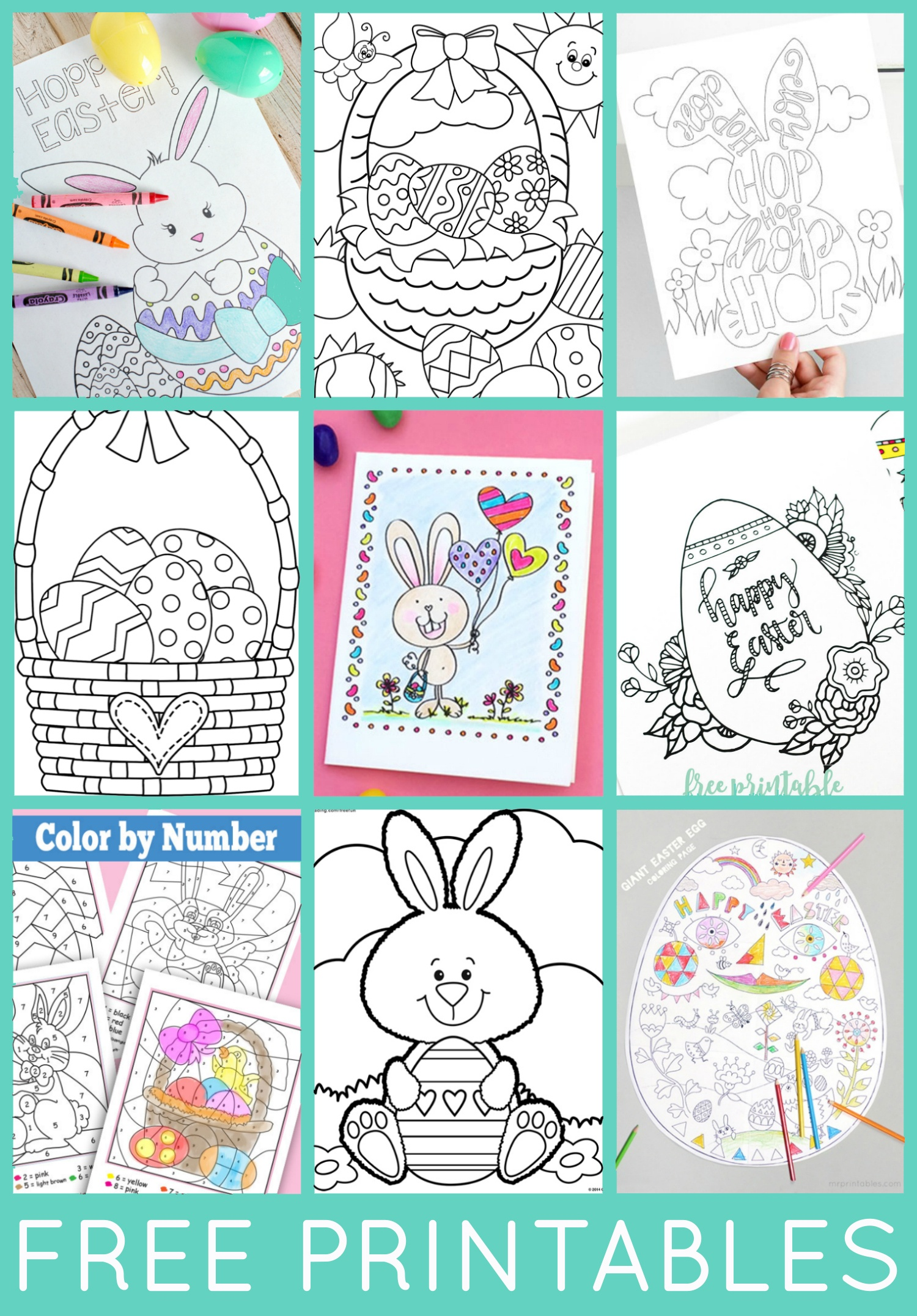 Free Easter Coloring Pages - Happiness Is Homemade - Free Easter Color Pages Printable