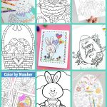 Free Easter Coloring Pages   Happiness Is Homemade   Free Printable Easter Images