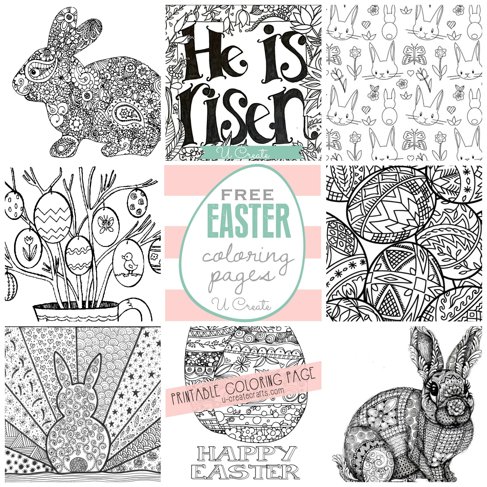 Free Easter Coloring Pages - U Create - Free Easter Color Pages Printable