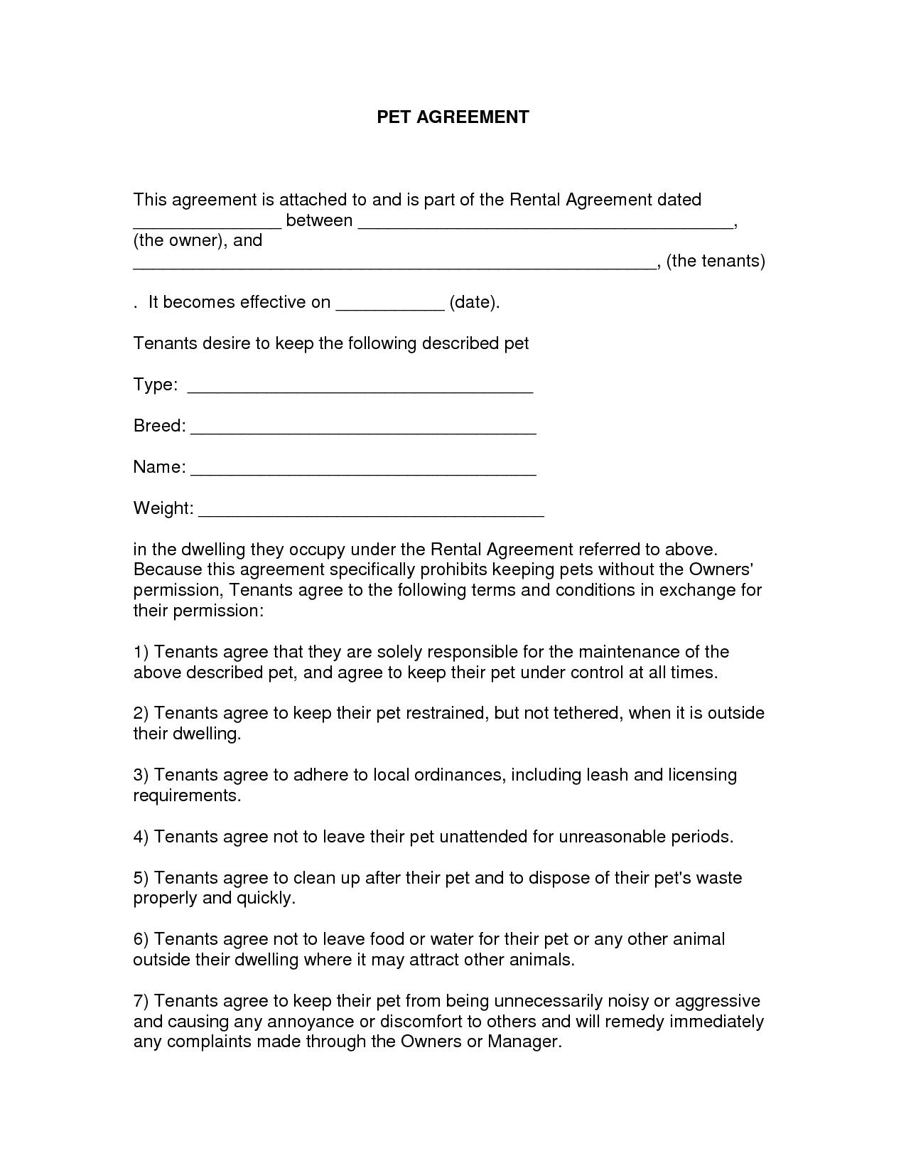 Free Easy Lease Agreement To Print   Free Printable Lease Agreement - Free Printable Lease Agreement Texas