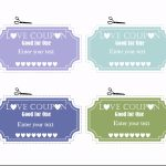 Free Editable Love Coupons For Him Or Her   Free Printable Coupon Templates