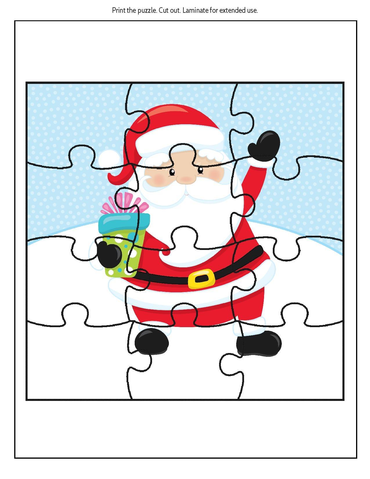 Free Educational Printable Christmas Puzzle Pack - Real And Quirky - Free Printable Christmas Puzzles