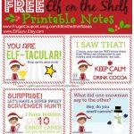 Free Elf On The Shelf Notes | Holiday Inspirations! | Elf On The   Free Printable Elf On The Shelf Notes