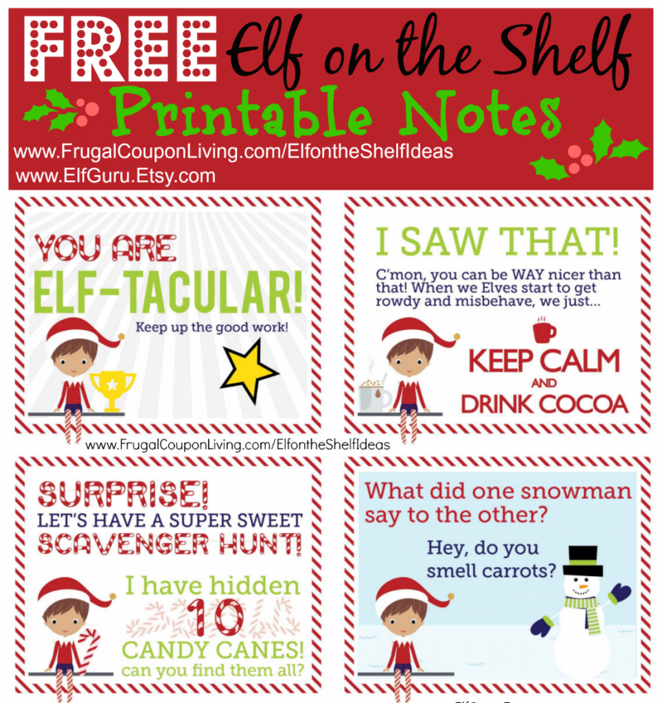 Free Elf On The Shelf Notes | Holiday Inspirations! | Elf On The - Free Printable Elf On The Shelf Notes
