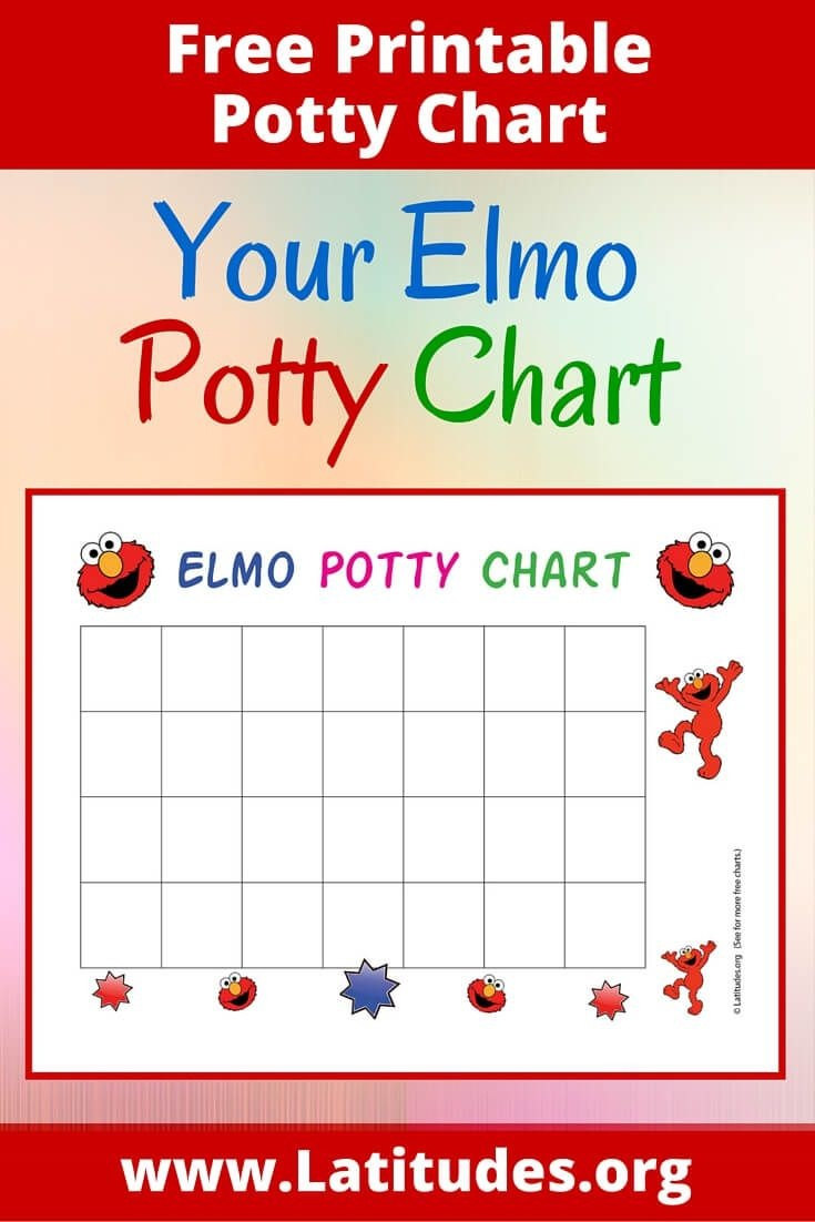 Free Elmo Potty Training Chart | Family | Potty Training Reward - Free Printable Potty Charts