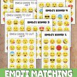 Free Emoji Bingo Game For Kids   Free Emoji Bingo Printable