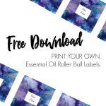 Free Essential Oil Printable Bottle Labels   Kate Shelby   Free Printable Roller Bottle Labels