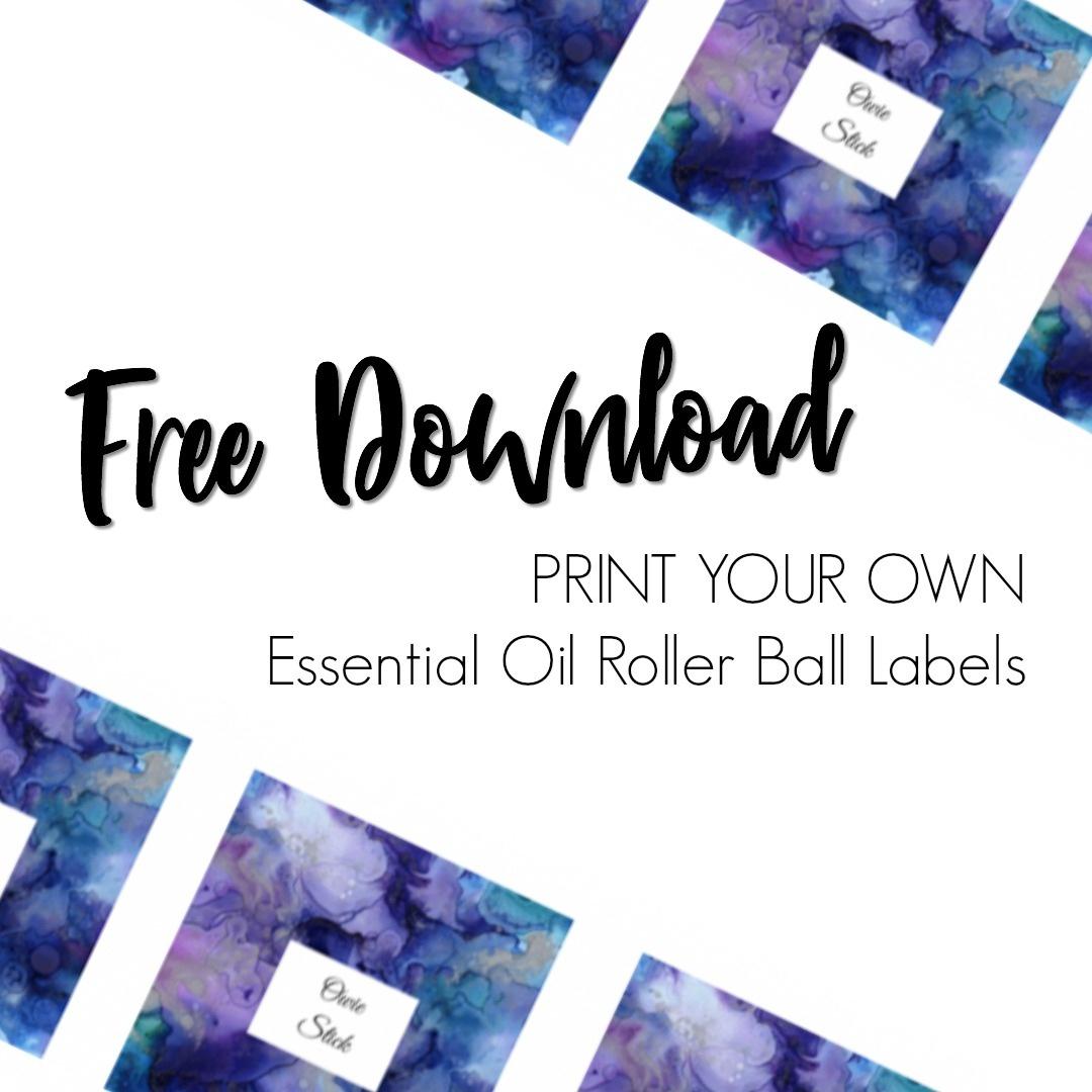 Free Essential Oil Printable Bottle Labels - Kate Shelby - Free Printable Roller Bottle Labels
