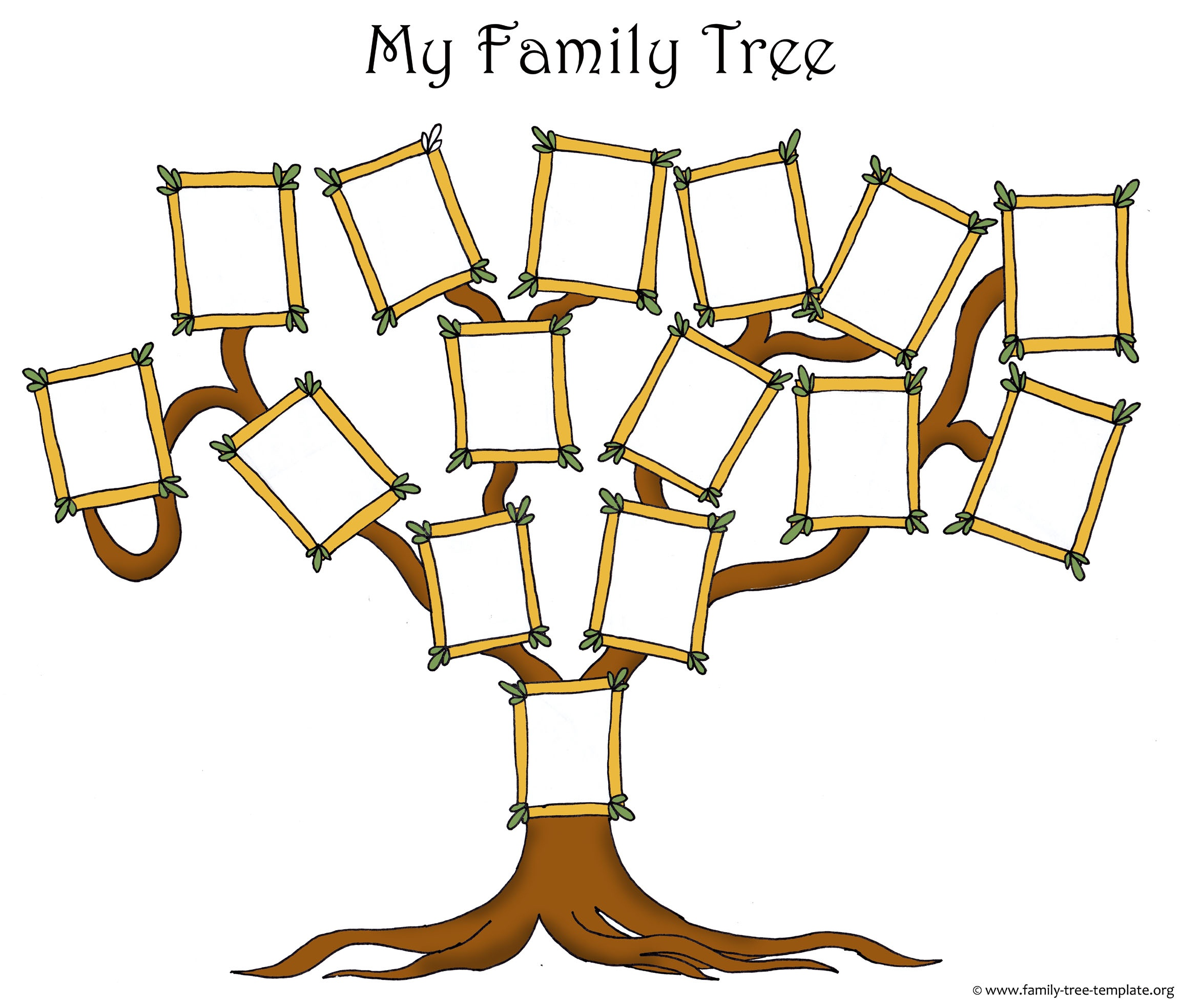 Free Family Tree Template Designs For Making Ancestry Charts - Free Printable Family Tree