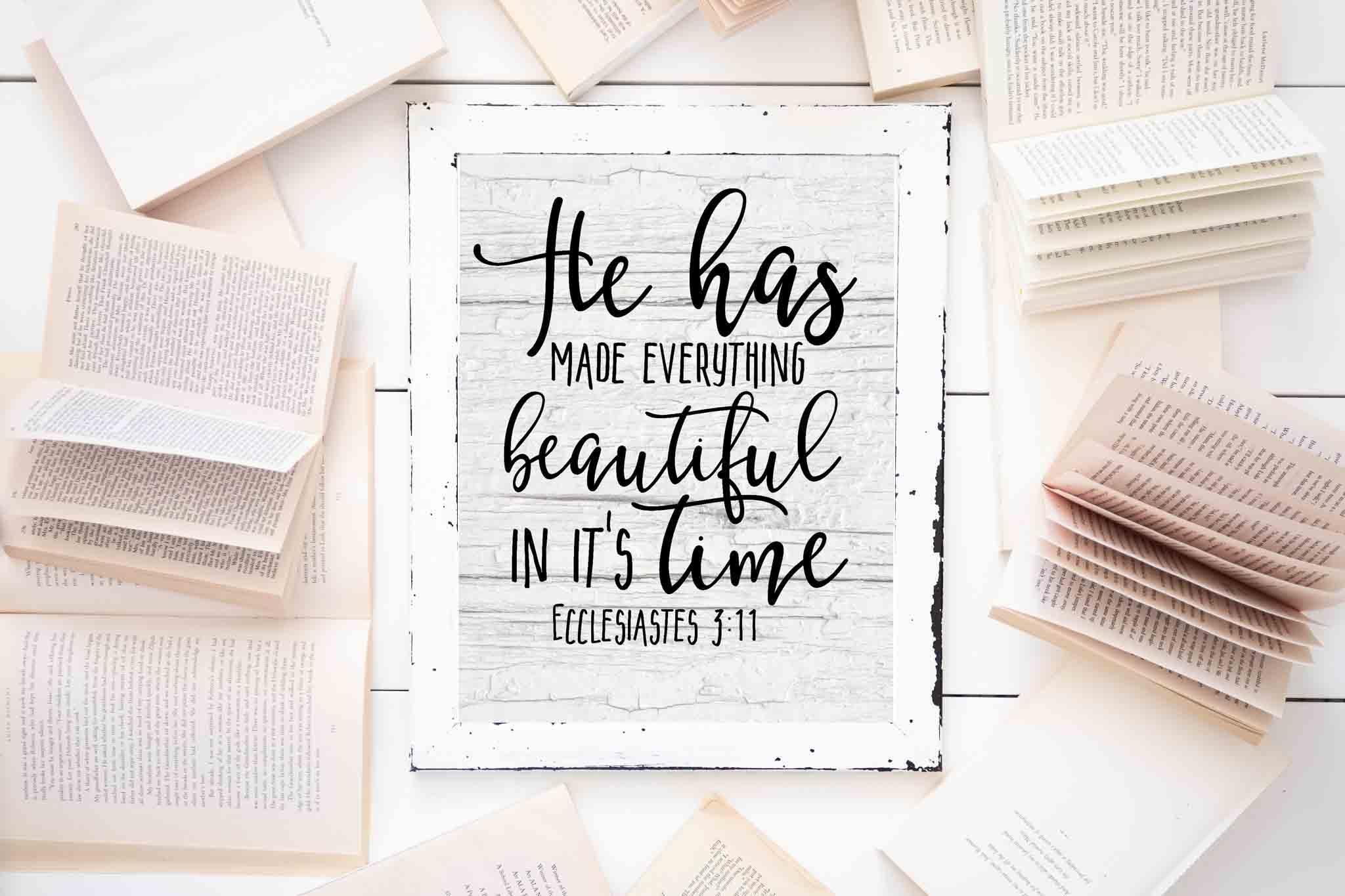 Free Farmhouse Scripture Printables - The Mountain View Cottage - Free Printable Scripture Verses