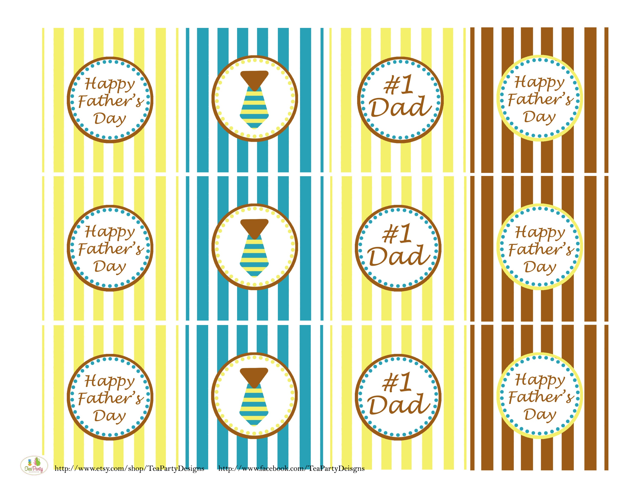 Free Father's Day Printables From Tea Party Designs   Catch My Party - Free Printable Party Circles