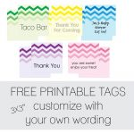 Free Favor Tags For Parties | Cutestbabyshowers   Printable Gift Tags Customized Free