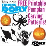 Free Finding Dory Pumpkin Carving Patterns To Print!   Free Printable Pumpkin Carving Stencils