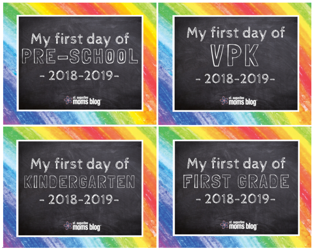 Free First & Last Day Of School Printables - My First Day Of Kindergarten Free Printable
