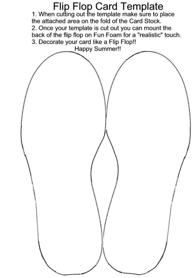 Free Flip Flop Wedding Invitation Templates | Amy's Shower | Card - Free Printable Flip Flop Pattern