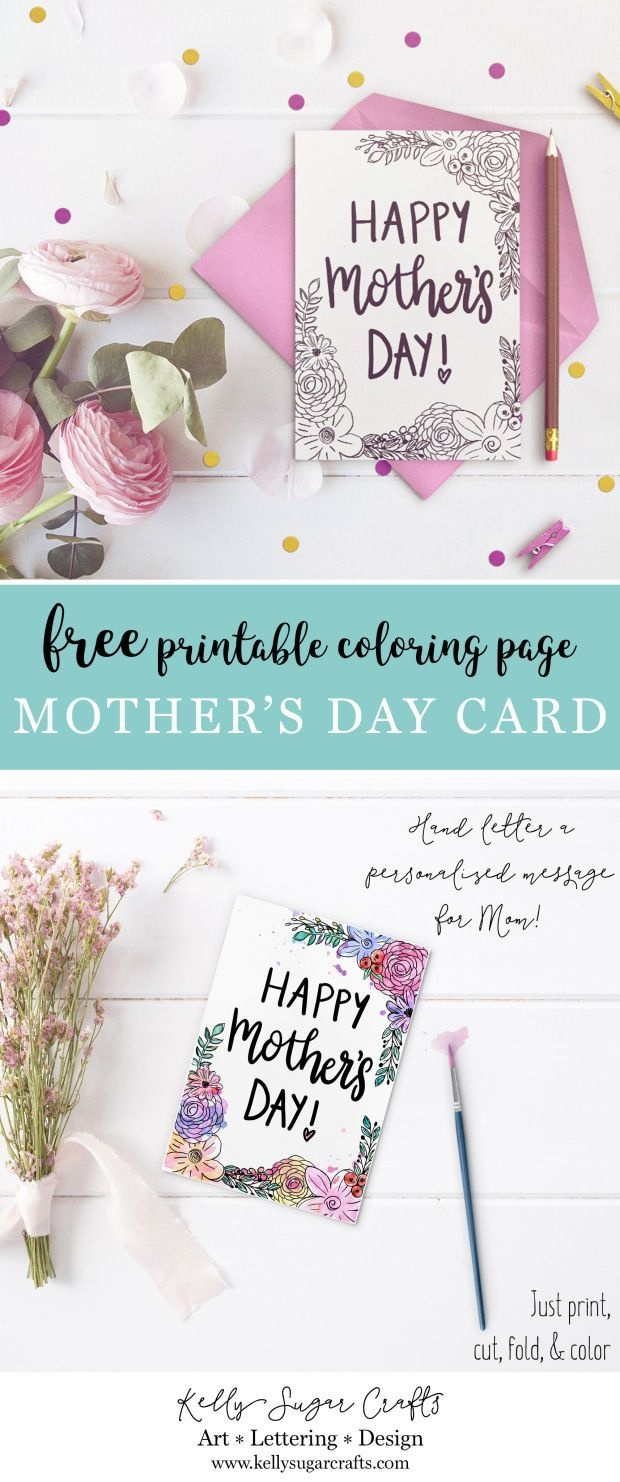 Free Floral Printable Mother's Day Coloring Page Card | Cards For - Free Printable Cards For All Occasions