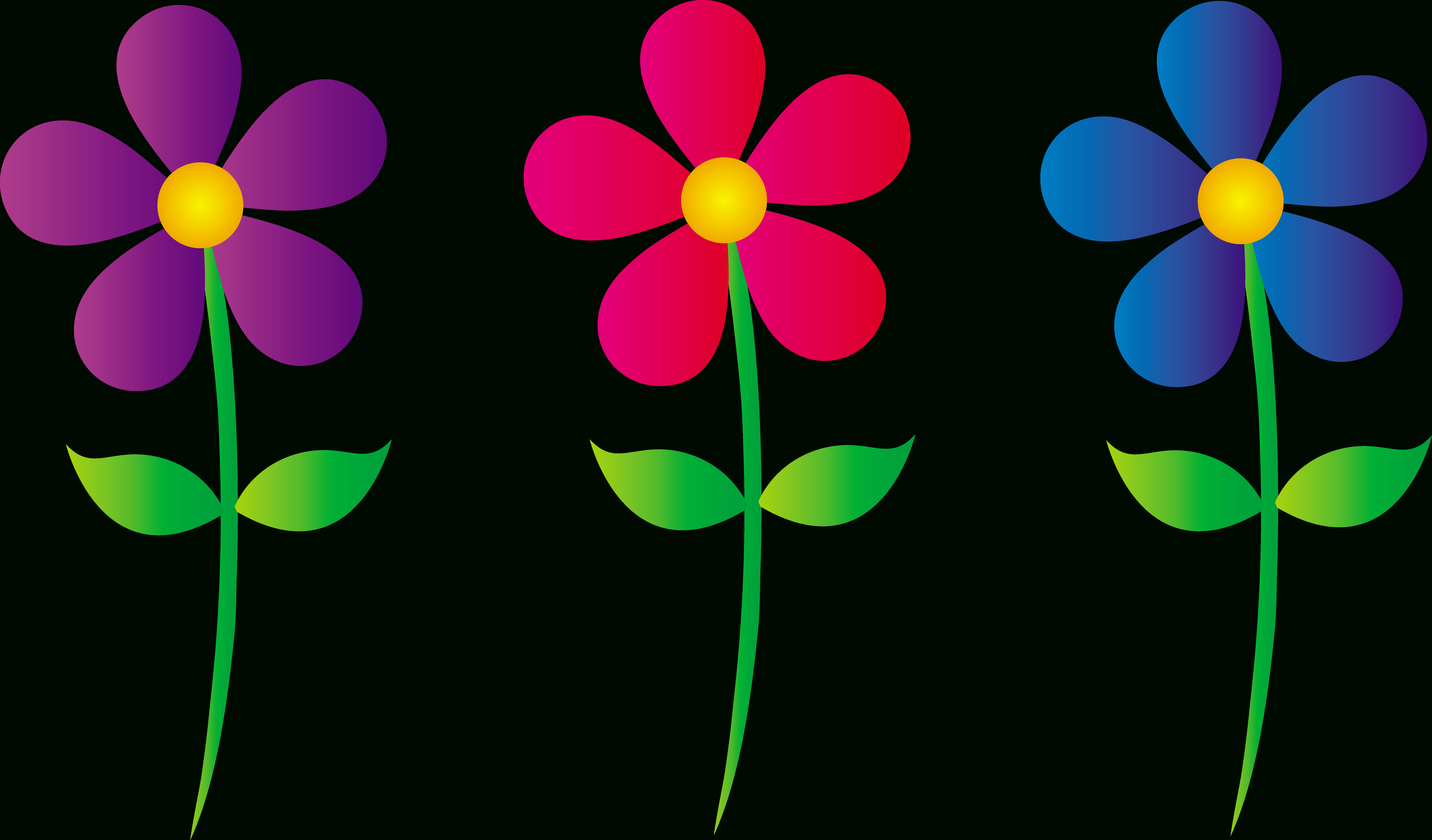 Free Flowers Cliparts, Download Free Clip Art, Free Clip Art On - Free Printable Clipart Of Flowers