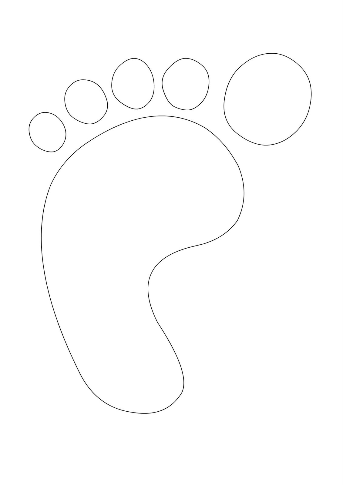 Free Footprint Template, Download Free Clip Art, Free Clip Art On - Free Printable Footprints