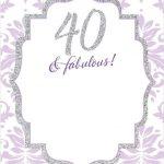Free Free Printable 40Th Birthday Invitations | Invites | Free   Free Printable Surprise 40Th Birthday Party Invitations