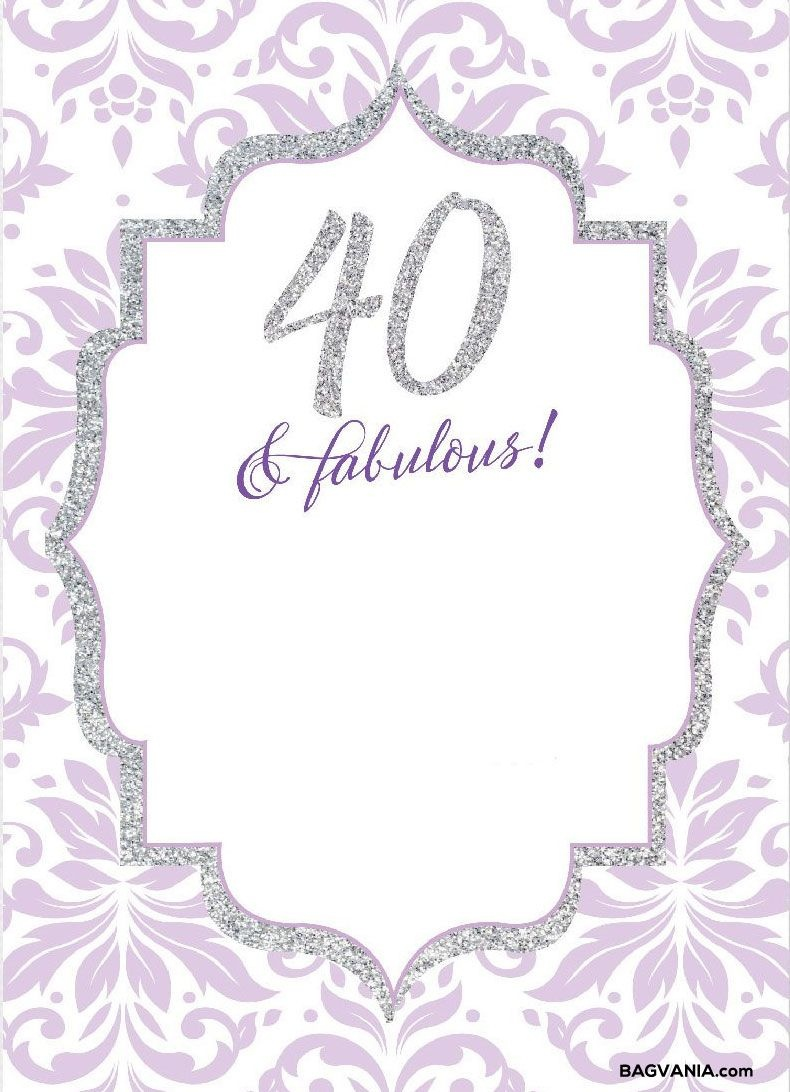 Free Free Printable 40Th Birthday Invitations | Invites | Free - Free Printable Surprise 40Th Birthday Party Invitations