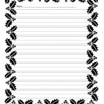 Free Free Printable Border Designs For Paper Black And White   Free Printable Writing Paper With Borders