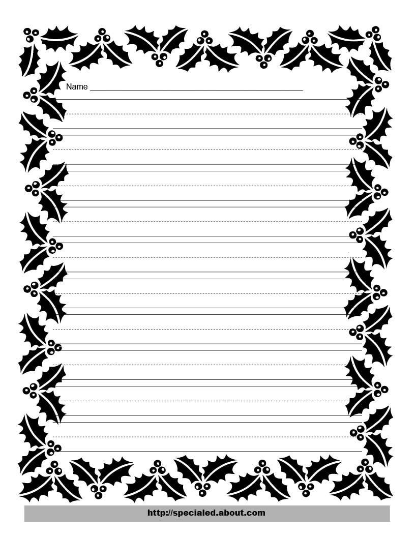 Free Free Printable Border Designs For Paper Black And White - Free Printable Writing Paper With Borders