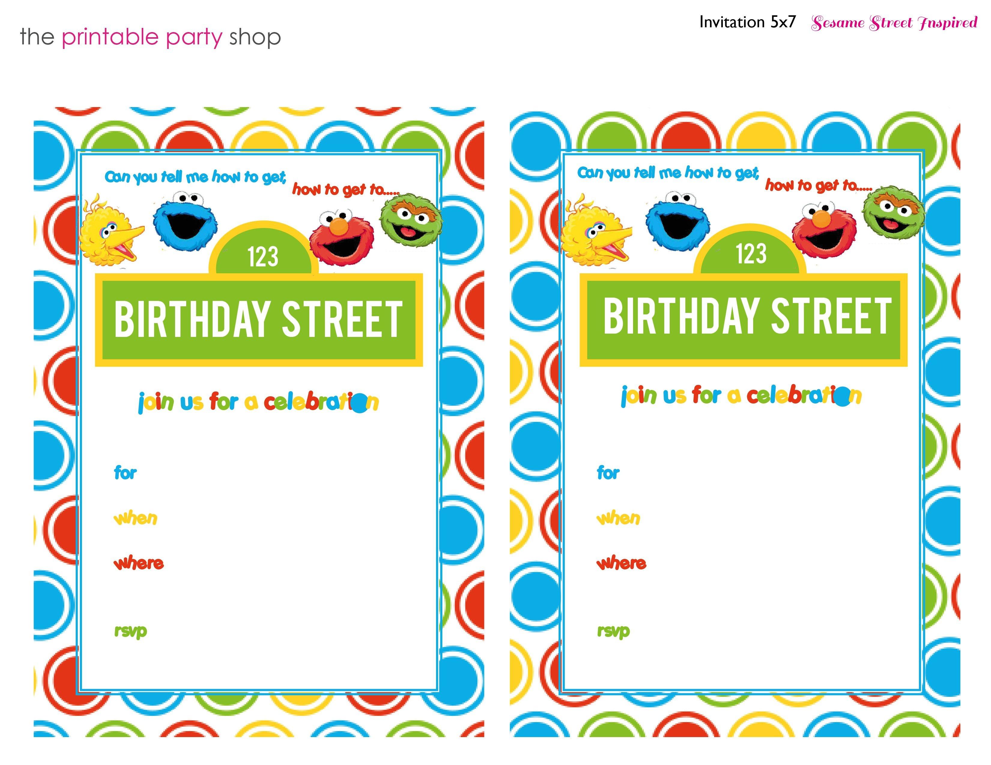 Free Free Printable Sesame Street 1St Birthday Invitations Templates - Free Printable Sesame Street Cupcake Toppers