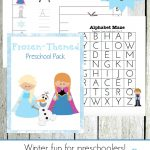 Free Frozen Printable And Activities   Free Printable Learning Pages
