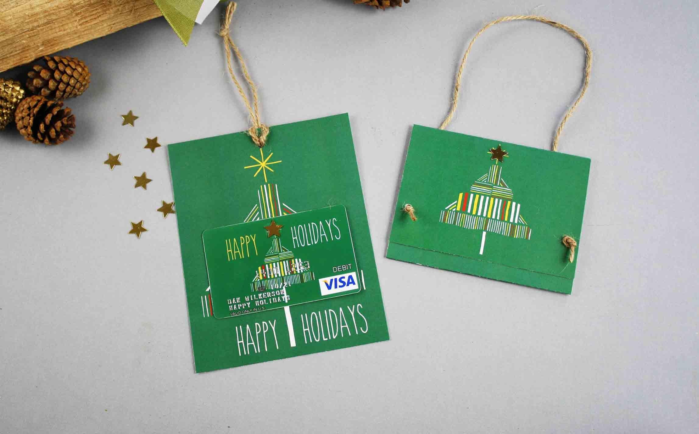 Free Gift Card Printable: Happy Holidays   Gcg - Make A Holiday Card For Free Printable