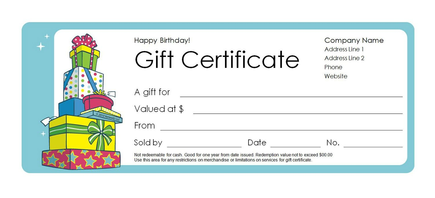 Free Gift Certificate Templates You Can Customize - Free Printable Gift Vouchers Uk