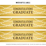 Free Gold Graduation Printables | Catch My Party   Free Printable Water Bottle Labels Graduation