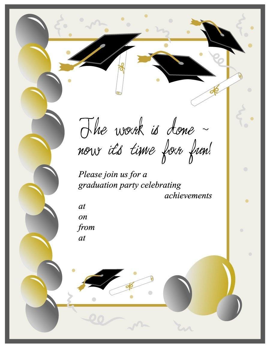 Free Graduation Evites - Kaza.psstech.co - Free Printable Graduation Invitations 2014