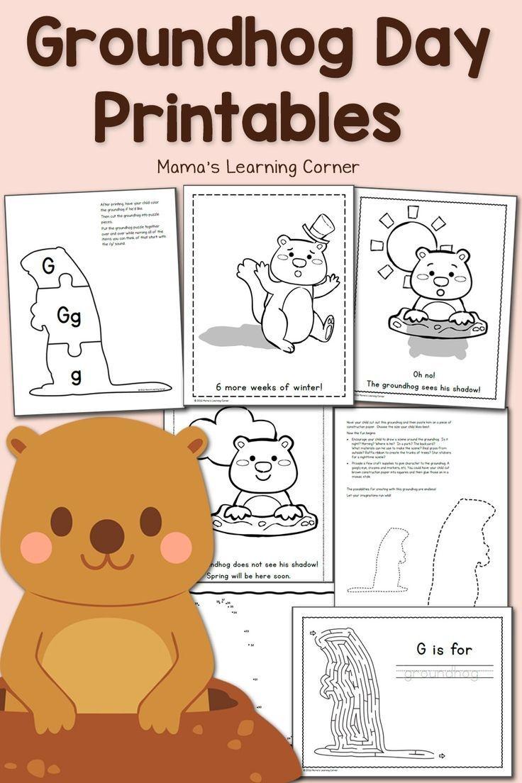 Free Groundhog Day Printables!   Worksheets & Printables For Pre-K - Free Printable Groundhog Day Booklet