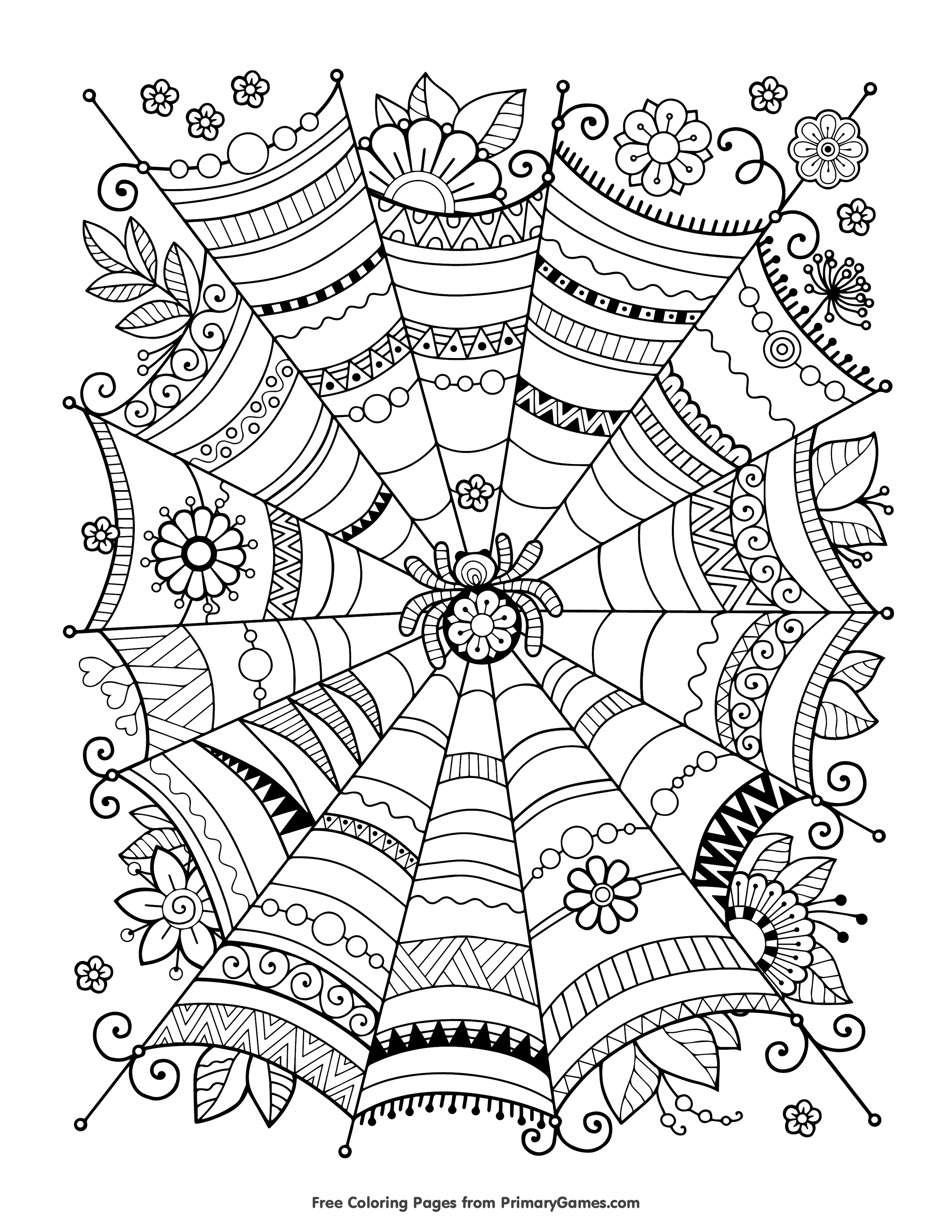 Free Halloween Coloring Pages For Adults & Kids - Happiness Is Homemade - Free Coloring Pages Com Printable