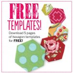 Free Hexagon Template Download + 13 Hexagon Quilt Pattern Ideas   Free Printable Quilting Stencils