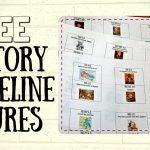 Free History Timeline Figures For Kids Homeschooling   Youtube   Free Printable Timeline Figures