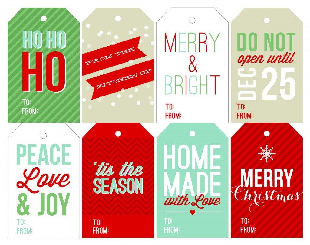 Free Holiday Printable Gift Tags - Free Printable Santa Gift Tags