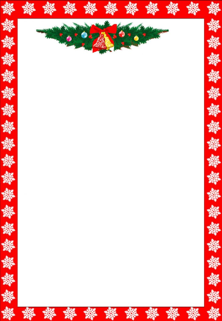 graphic regarding Free Printable Christmas Letterhead named absolutely free printable christmas letterheads No cost Printable