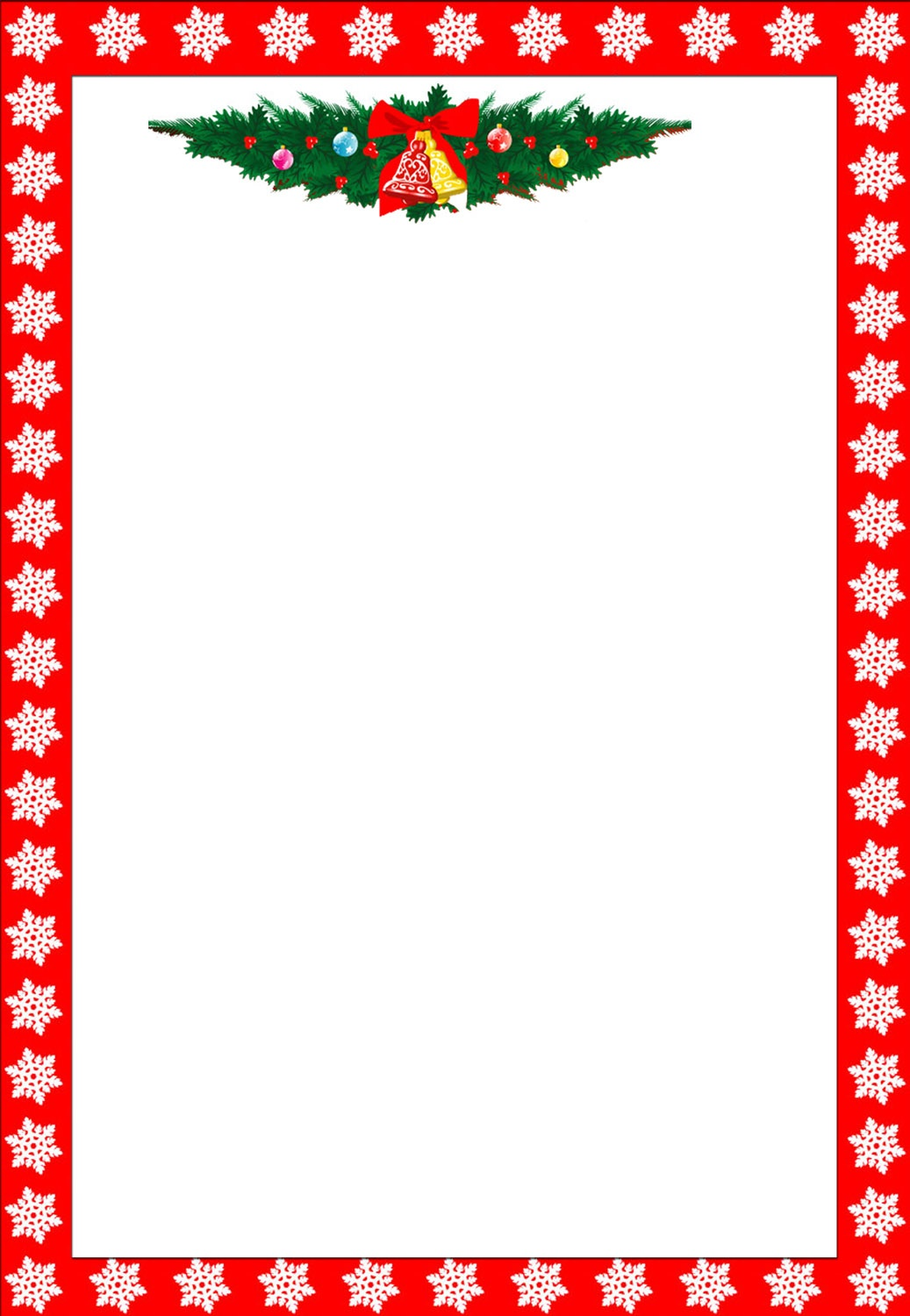 Free Holiday Stationary, Free Christmas Letterhead, Free Custom - Free Printable Christmas Letterhead