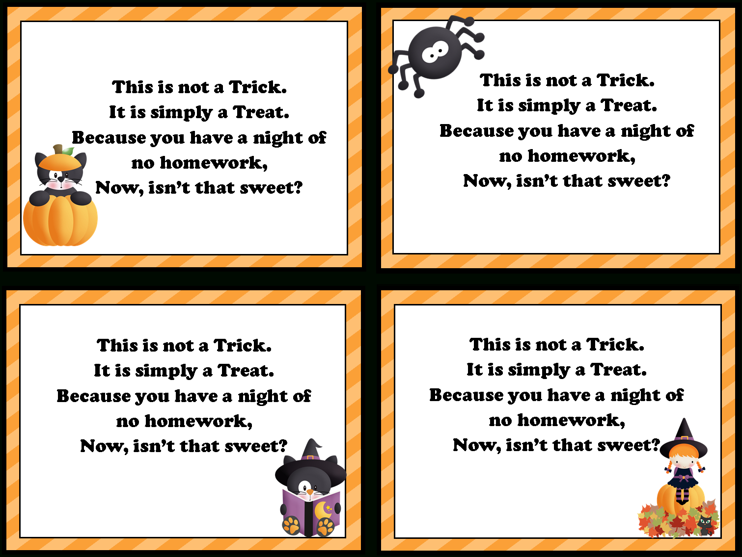 Free Homework Pass Cliparts, Download Free Clip Art, Free Clip Art - Free Printable Halloween Homework Pass
