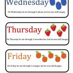 Free Hungry Caterpillar Mini Printable ~ Preschool Printables   Free Printable Days Of The Week Cards