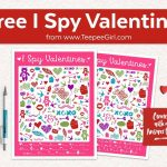 Free I Spy Valentines Printable Game   Teepee Girl   Free Printable Valentine Games For Adults