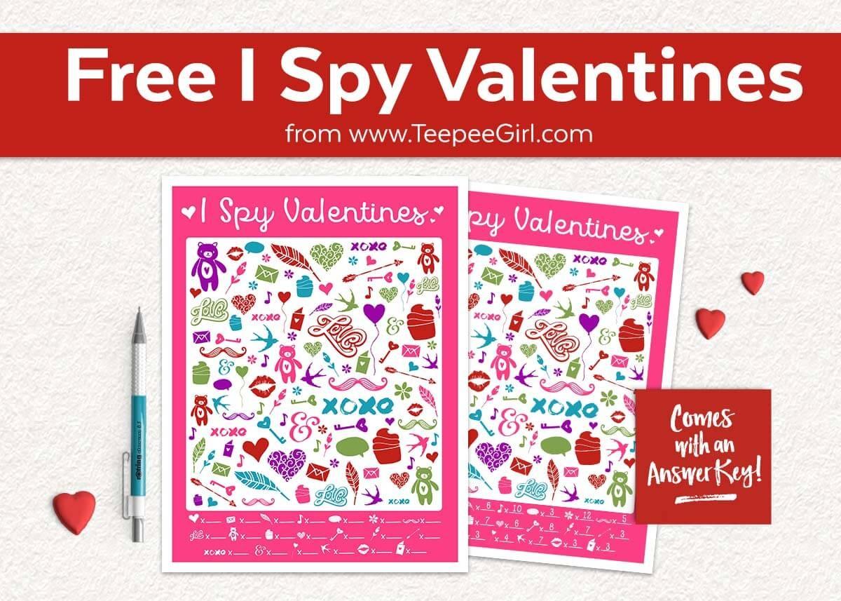 Free I Spy Valentines Printable Game - Teepee Girl - Free Printable Valentine Games For Adults