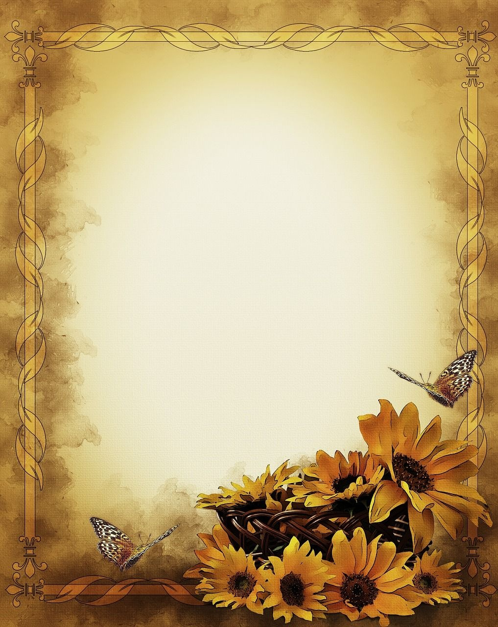 Free Image On Pixabay - Sunflowers, Still Life, Frame | Bridal - Free Printable Sunflower Stationery