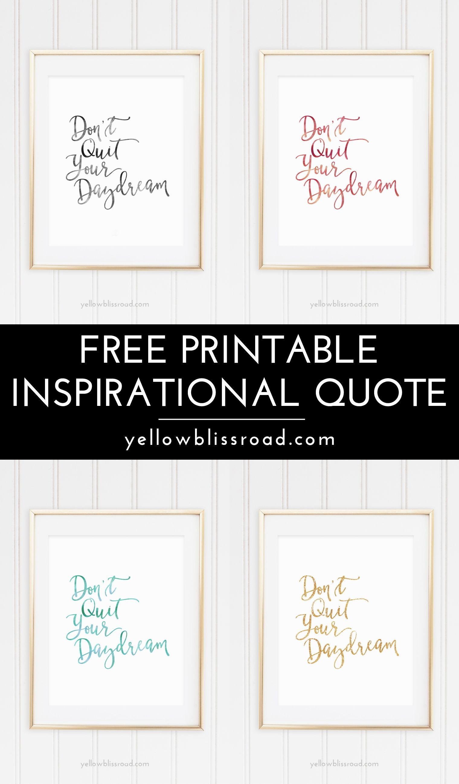 Free Inspiration Quote Printable | Free Printable Wall Art, Quotes - Free Printable Wall Art Quotes