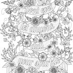 Free Inspirational Quote Adult Coloring Book Image From Liltkids   Free Printable Inspirational Coloring Pages