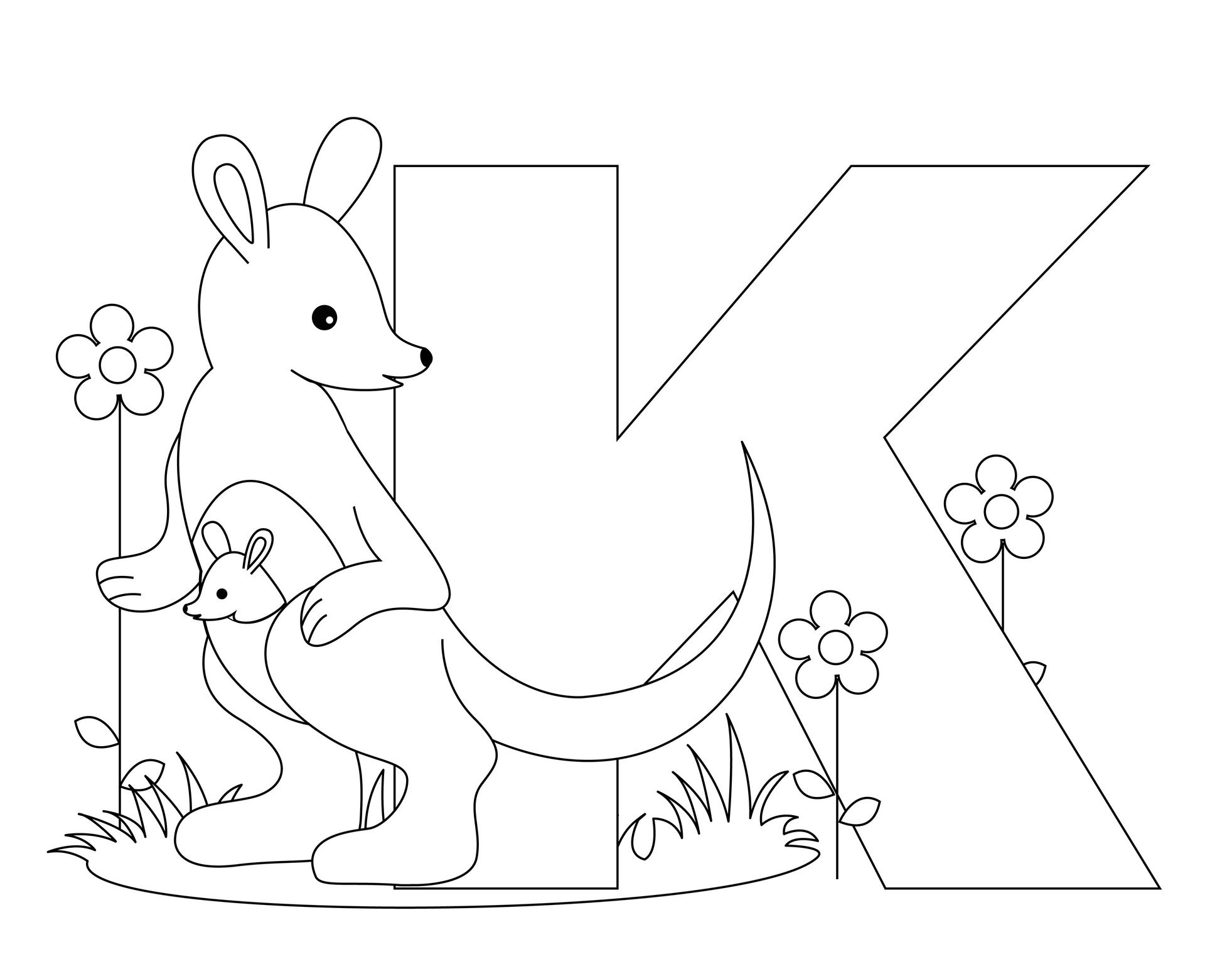 Free Kindergarten Alphabet Worksheets | Animal Alphabet: Letter K - Free Printable Animal Alphabet Letters